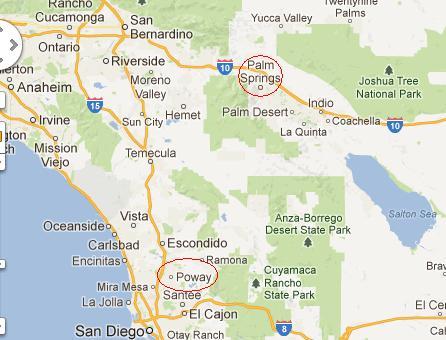 Poway California Map.Poway California
